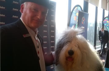 Trade event for Dulux with their mascot. Magic works a treat at these events