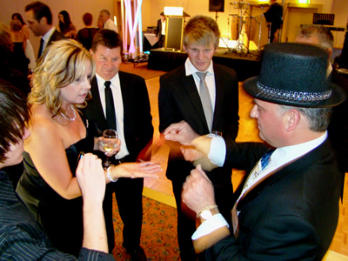 George Stas Adelaide Magician performing at a wedding